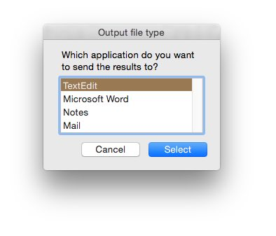 Using AppleScript to choose which application to send the output of your Python program to