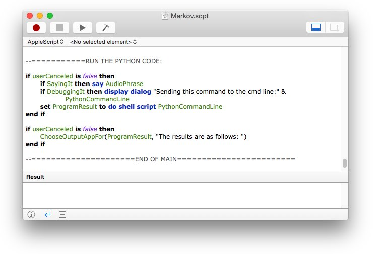Editing ApplesScript code in the AppleScript editor