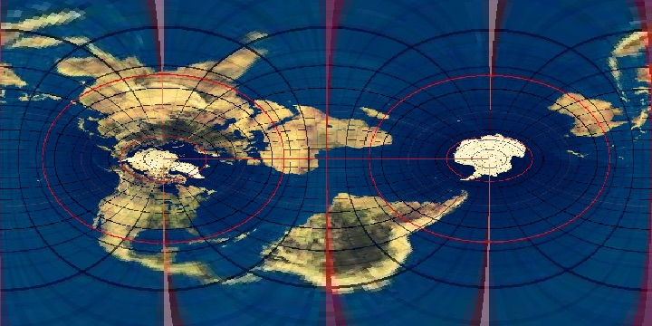 Transverse Mercator showing the gridlines