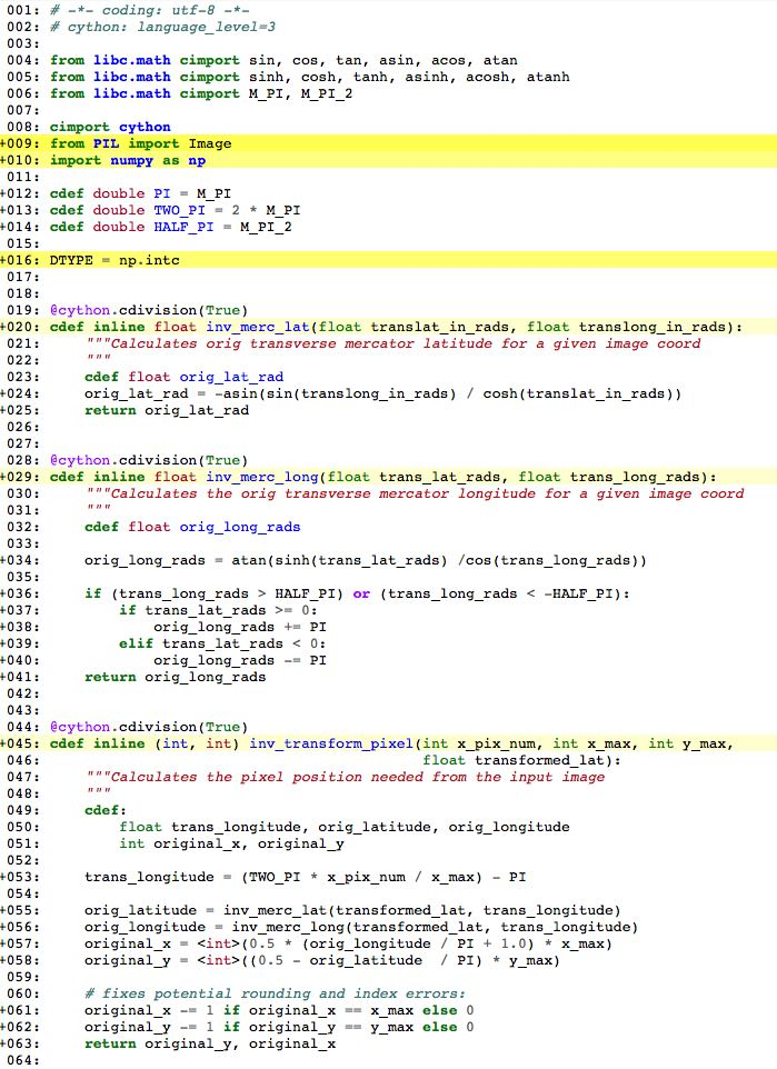 Cython HTML annotation file after making Python functions inline C functions